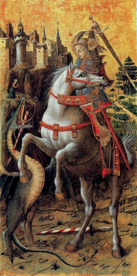 Saint George And the Dragon, 1470, Carlo Crivelli, Venice, Italy
