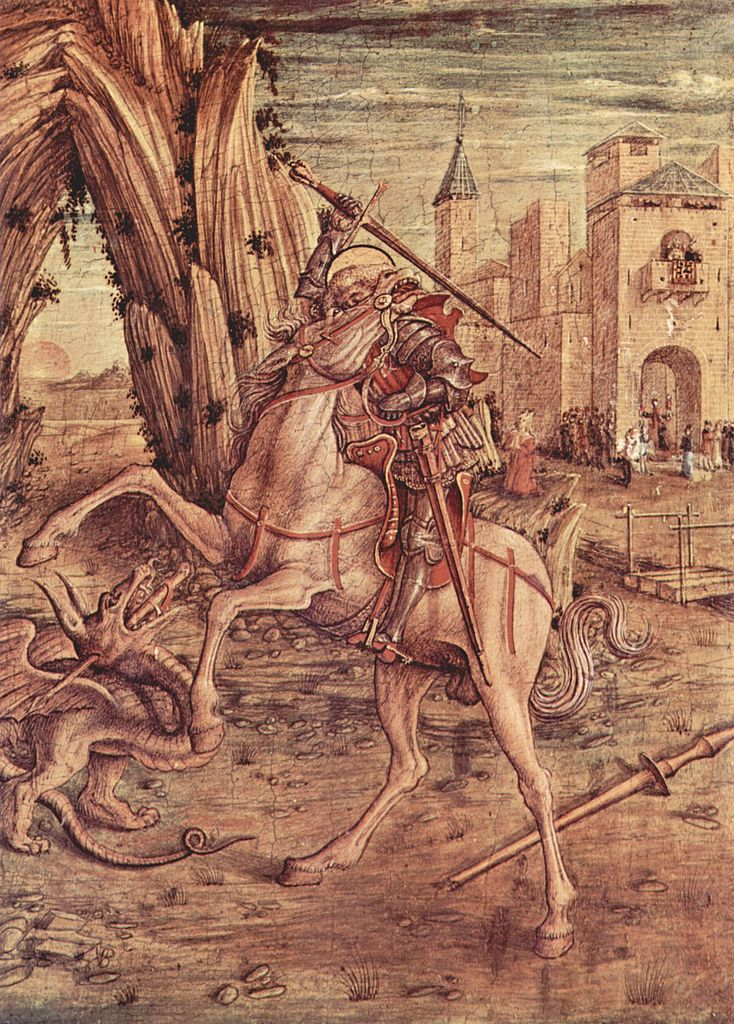 Saint George And the Dragon, 1490, Carlo Crivelli, Venice, Italy