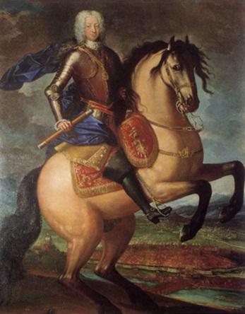 Equestrian portrait of Charles Emmanuel III, Duke of Savoy and King of Sardinia,1720-61, Maria Giovanna Clementi, Turin, Italy