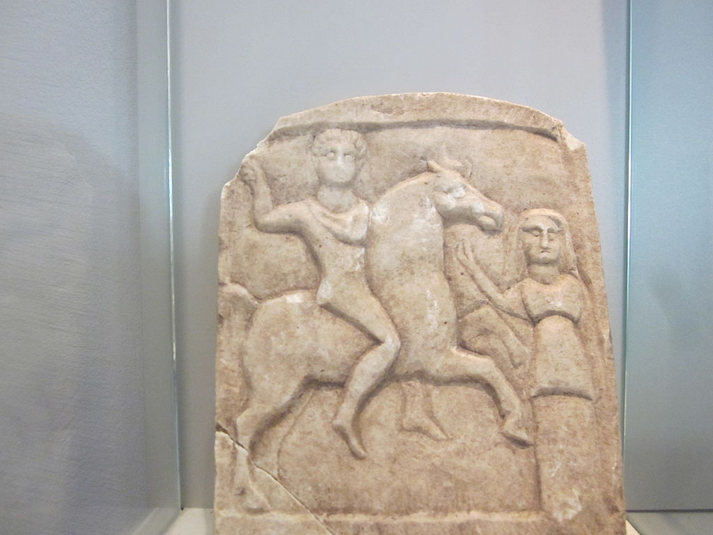 A bas-relief showing a Thracian horseman, ?