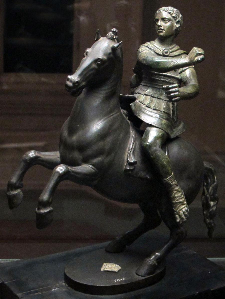 A Horseman, Cavalier: 3 century BC, Etruscan civilisation; Horse: 1548, Benvenuto Cellini, Italy
