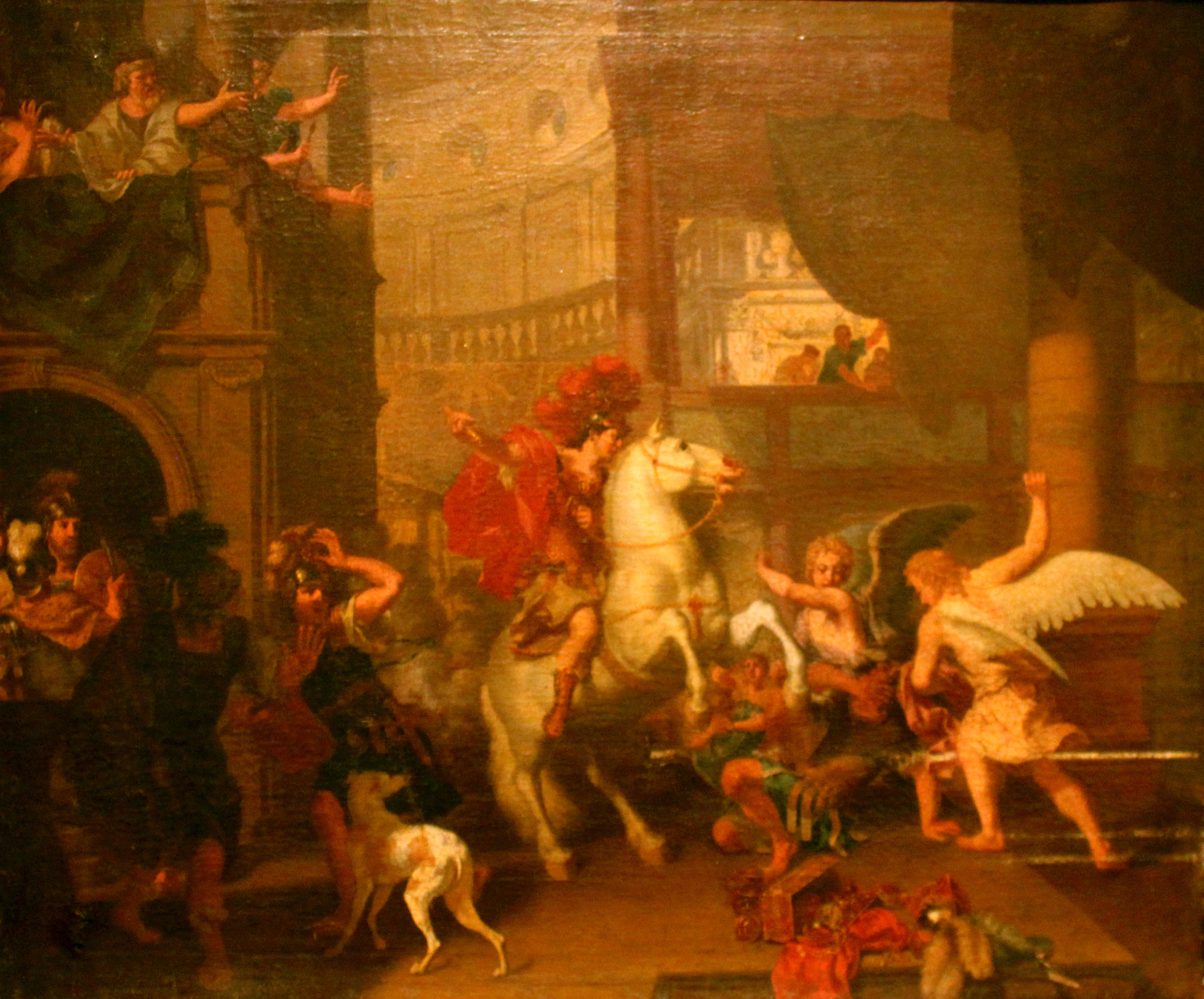 Expulsion Of Heliodorus, before 1690, Charles Le Brun, Paris, France
