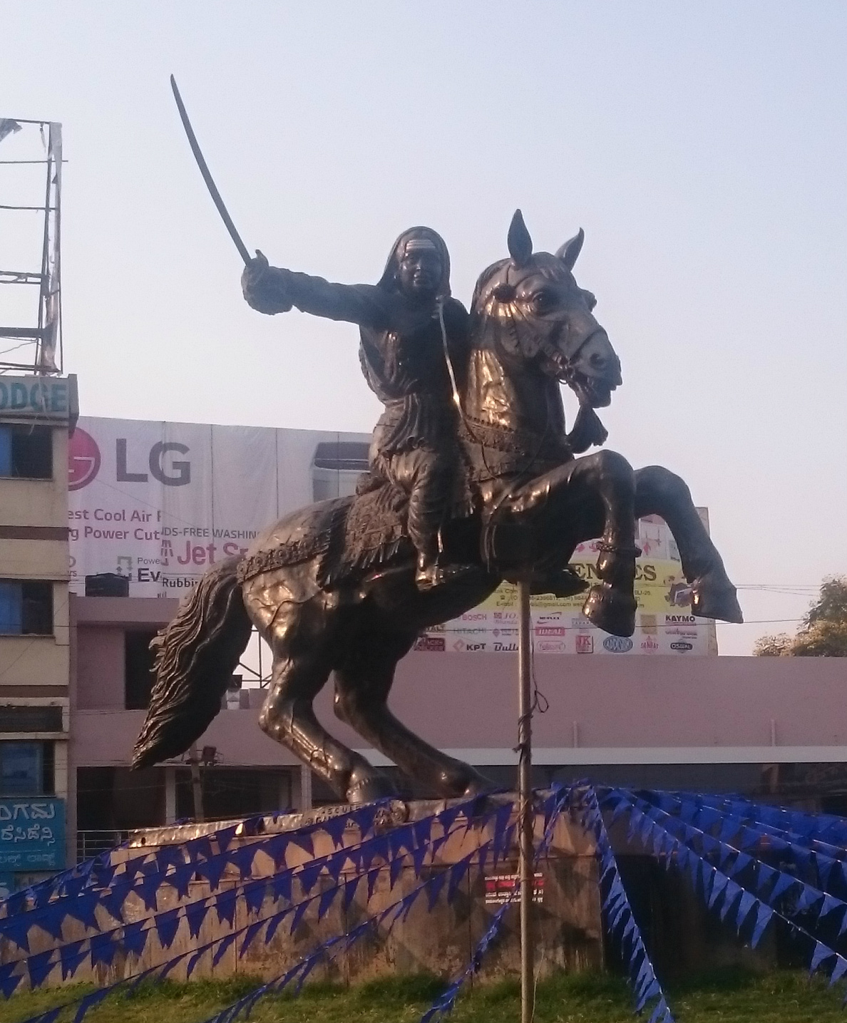 Statue of Kittur Chennamma, ?, Ganesh and Prakash Patkar, Hubli, Karnataka, India