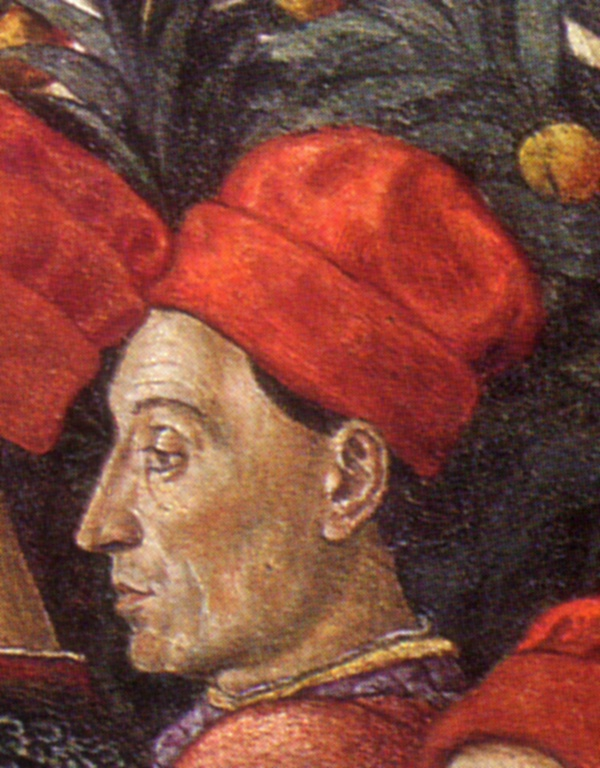 Ciriaco de' Pizzicolli, detail of a painting in Cappella del Palazzo Medici-Ricciardi, 1459, Florence, Italy