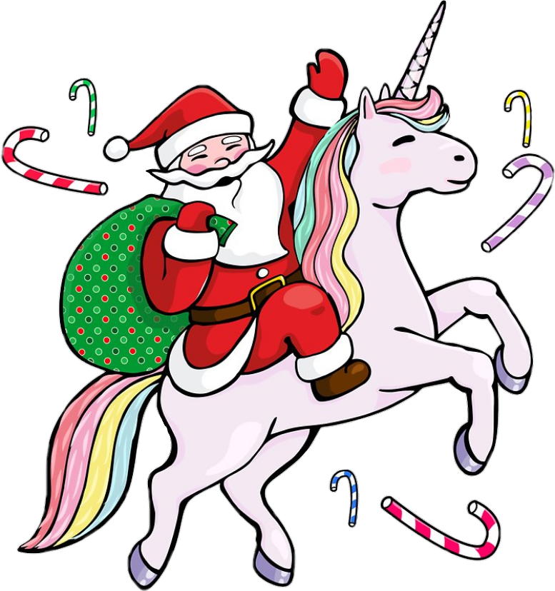Santa riding a unicorn, 2010s, Douislouis (?)