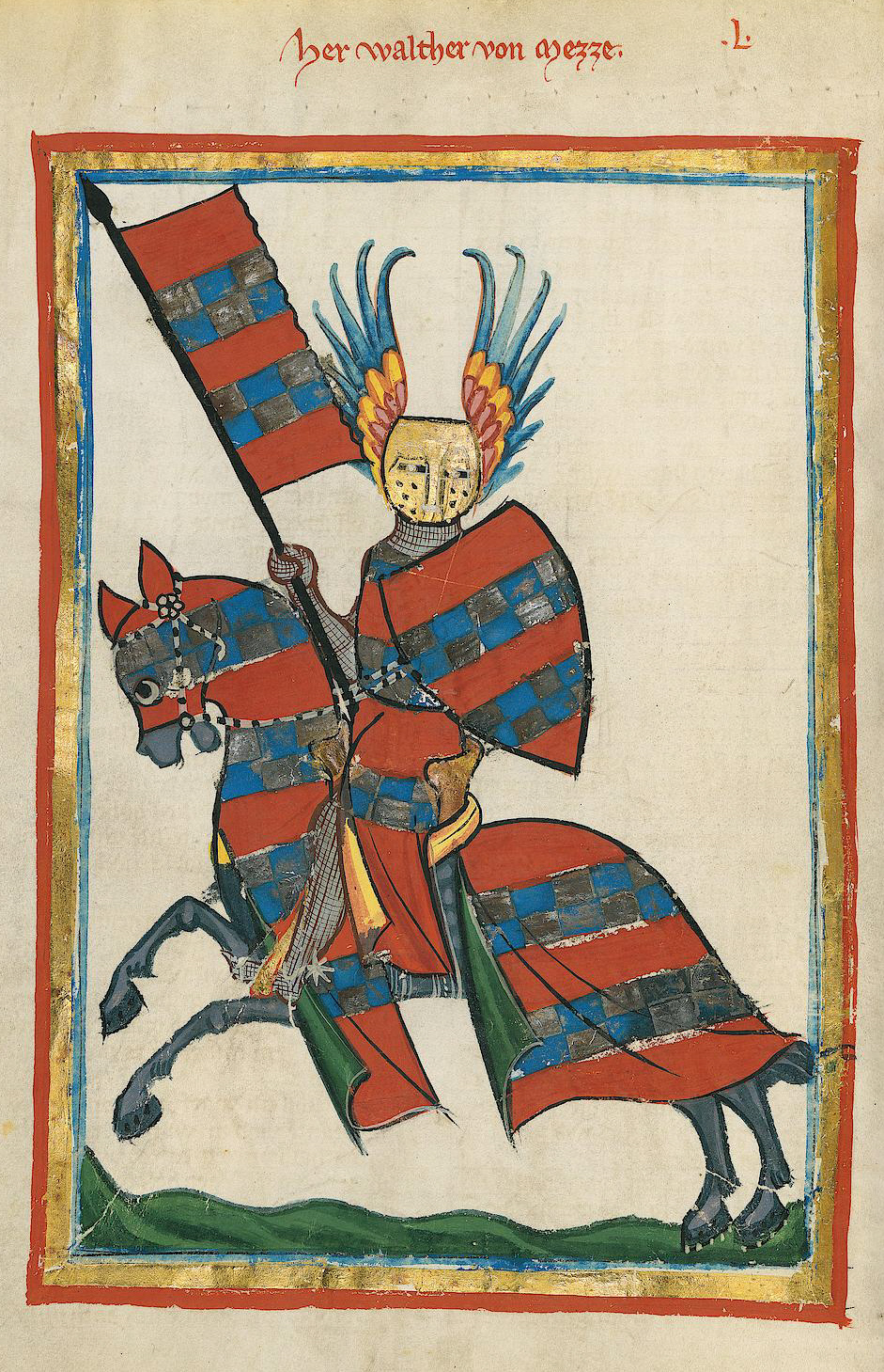 Illustration of Codex Manesse, cr. 1304 or cr. 1340, Zürich, Switzerland