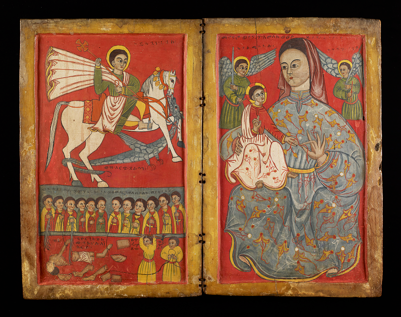 An icon showing St George, 15th-16th century, Ethiopia