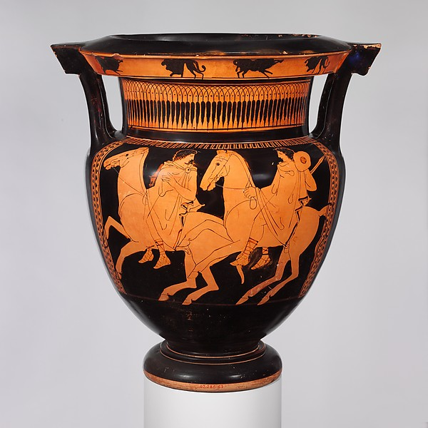 Column-krater (bowl for mixing wine and water),cr. 430 BC, Attica, attributed to the Marlay Painter
