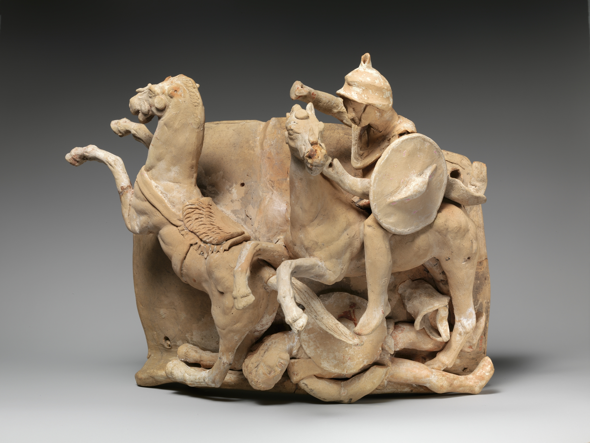 Terracotta relief, probably from a funnel vase, late 3rd–early 2nd century BC, Canosa, Apulia, Italy