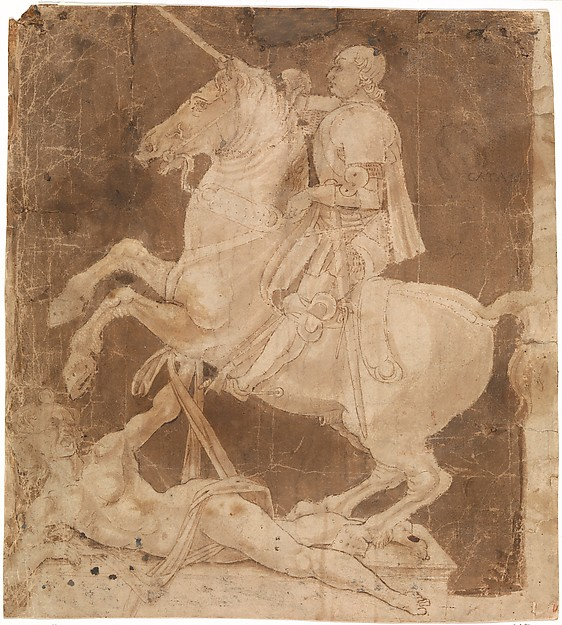 Study for the Equestrian Monument to Francesco Sforza,early to mid-1480s, Antonio Pollaiuolo