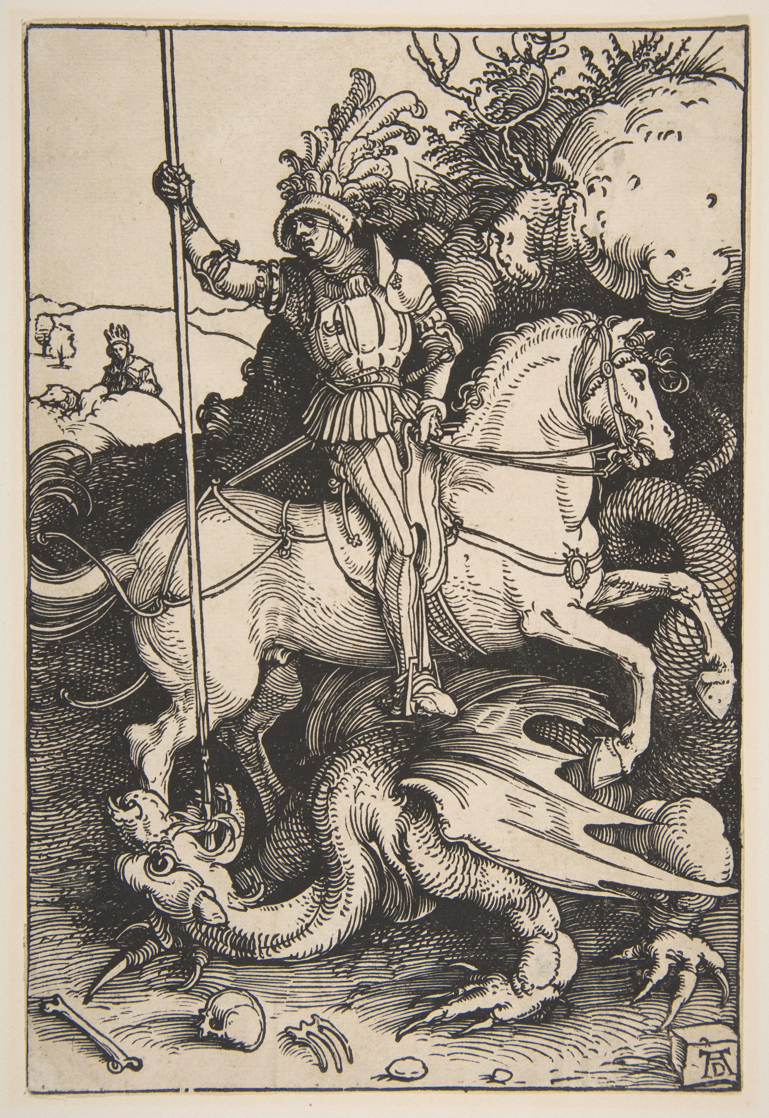 Saint George and the Dragon, cr. 1504, Albrecht Dürer, Germany