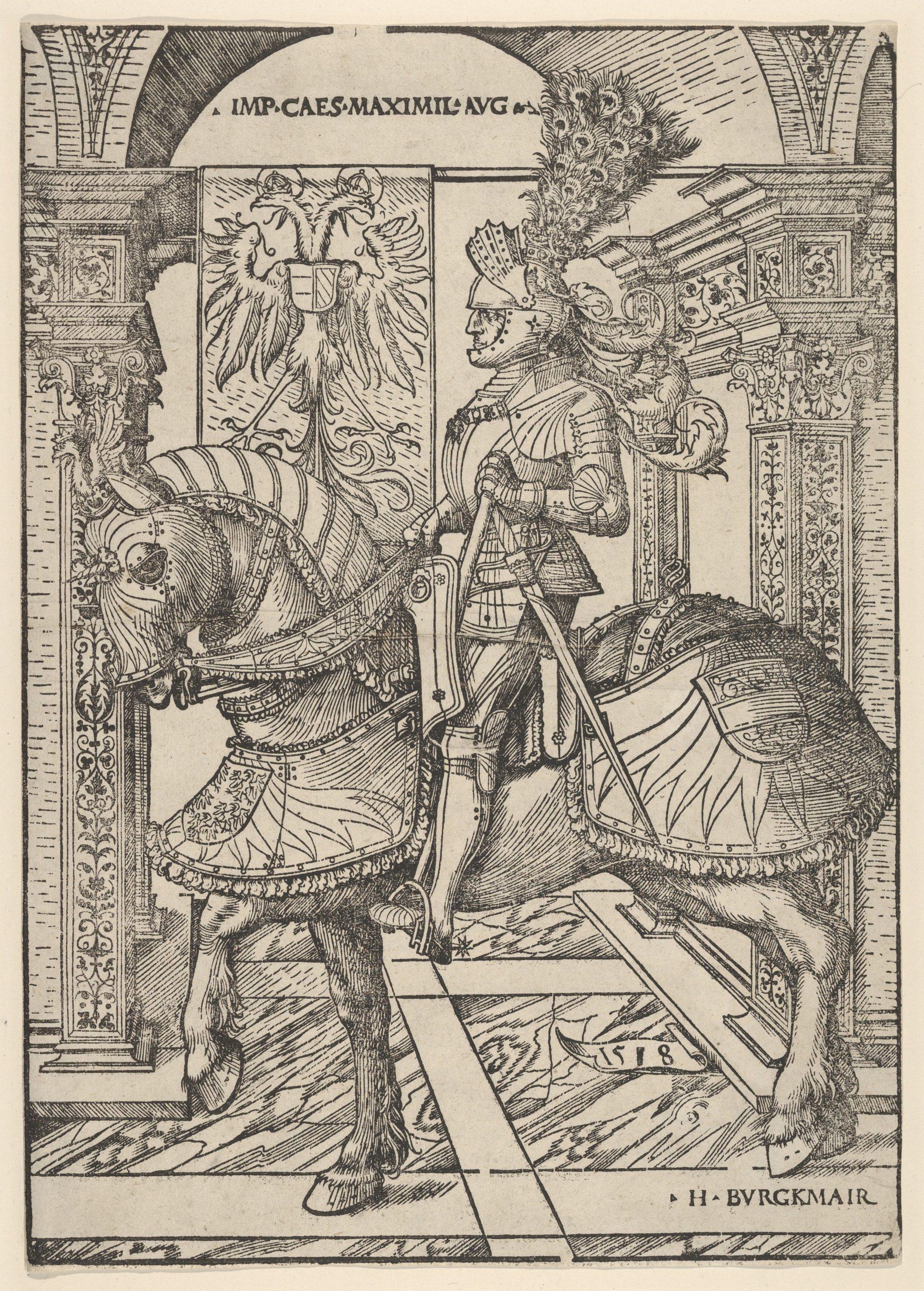Emperor Maximilian I on Horseback, 1508-18, Hans Burgkmair, Vienna, Holy Roman Empire