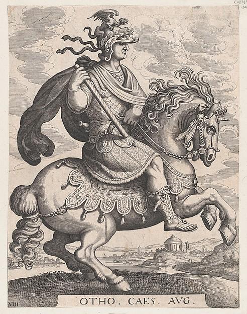 Emperor Otho on Horseback, plate 8, 1596, Antonio Tempesta