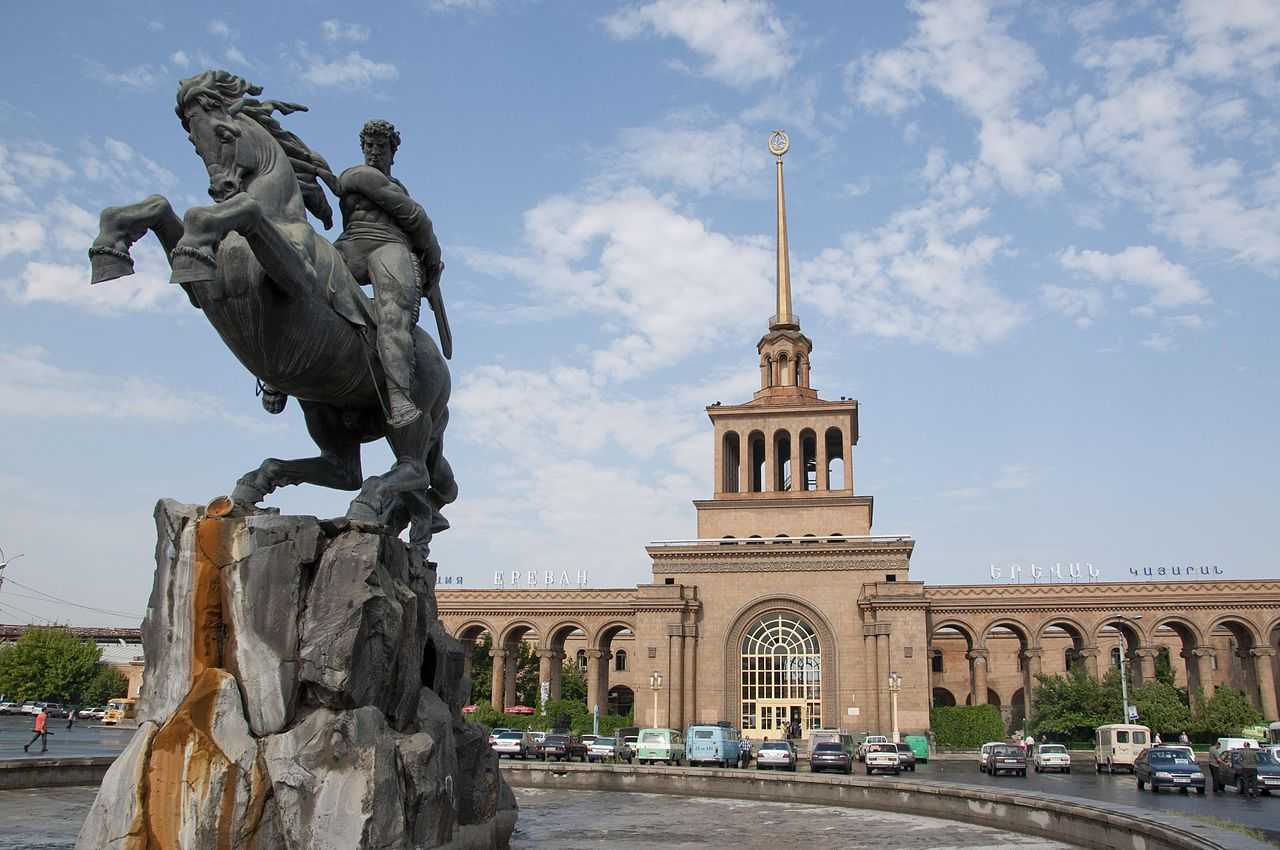 Statue of David of Sassoun, 1959, Yervand Kochar, Yerevan, Armenia