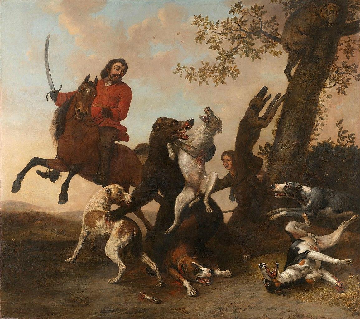 The bear hunt, 1649, Paulus Potter, Netherlands