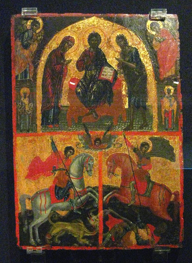 COMPARANDUM: Deisis with Saint George and Saint Demetrius, 16th century (?), Greece