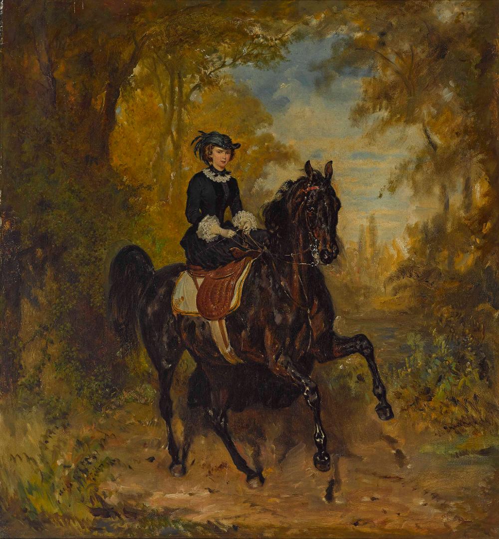 Empress Elisabeth of Austria on horseback, 1857, Franz Adam, Austria