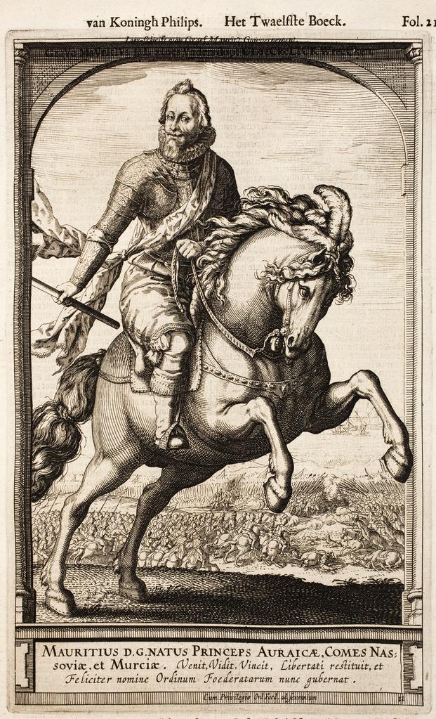 Maurice, Prince of Orange, 1591 - 1632, Hessel Gerritsz, Amsterdam, Netherlands