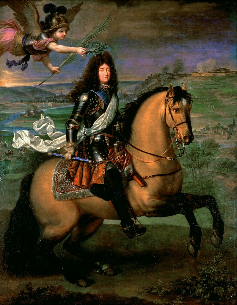 Louis XIV on horseback crowned by the Victory, 1674, Pierre Mignard
