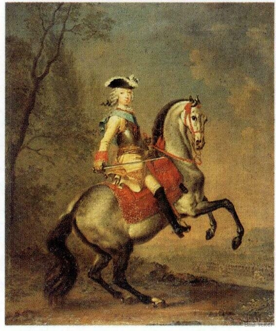 Equestrian portrait of Peter III, G.C.Grooth, 1742-4