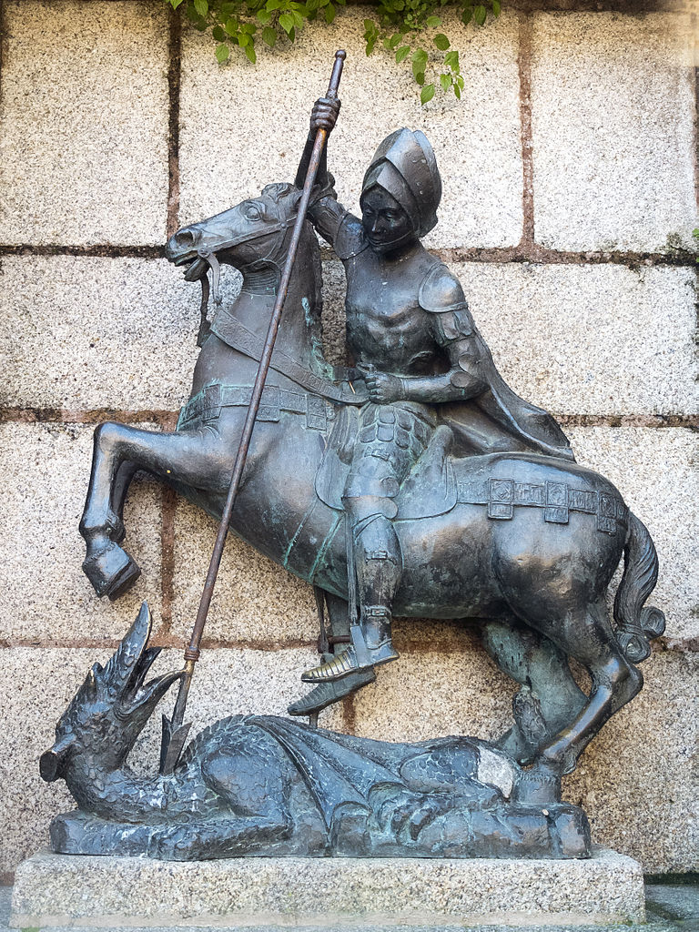 Statue of Saint George and The Dragon, 1963, José Rodriguez, Cáceres, Spain