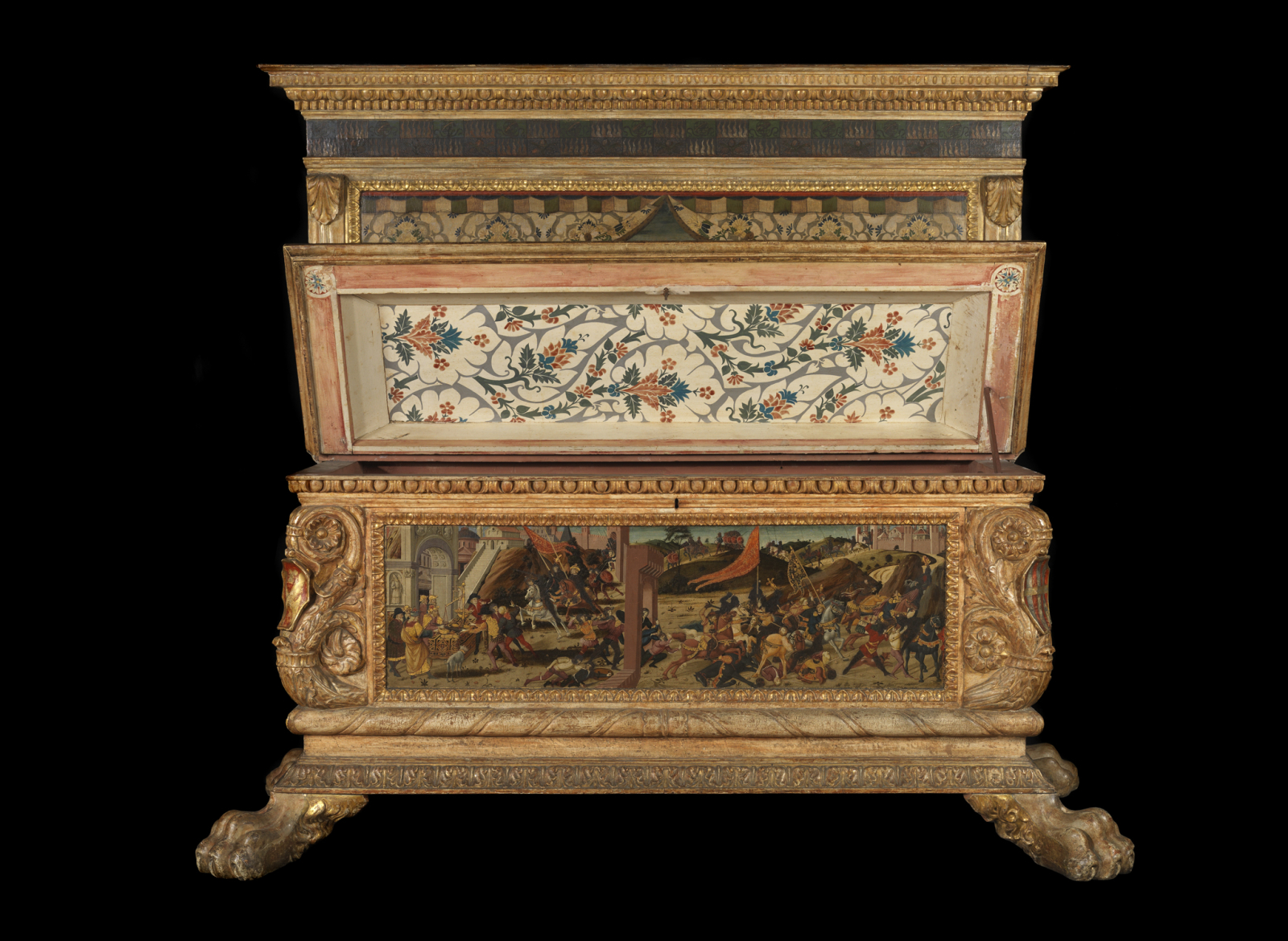 The Morelli-Nerli Wedding Chest,1472, Biagio di Antonio, Jacopo del Sellaio and Zanobi di Domenico
