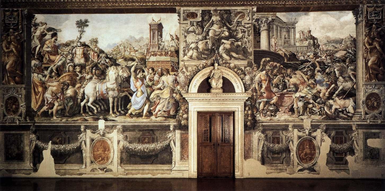 The stories of Furio Camillo, 1543-5, Francesco Salviati, Palazzo Vecchio, Florence