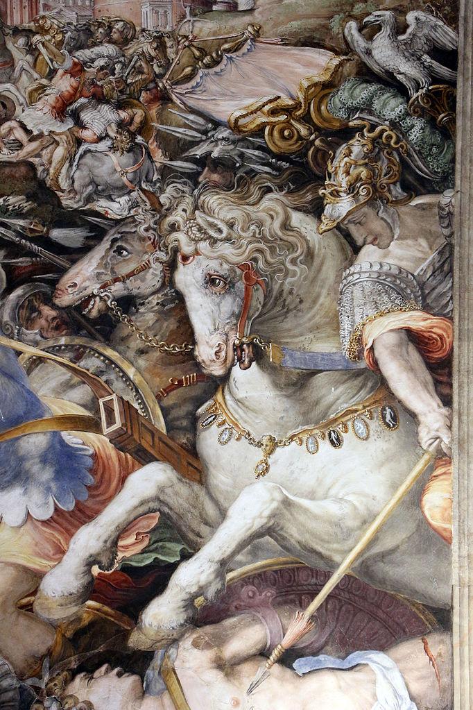 The stories of Furio Camillo (detail), 1543-5, Francesco Salviati, Palazzo Vecchio, Florence