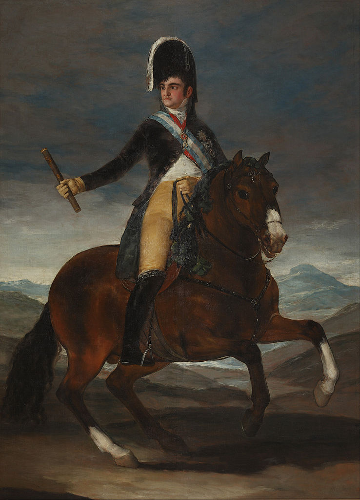 Equestrian Portrait of Fernando VII of Spain, 1808, Francisco Goya