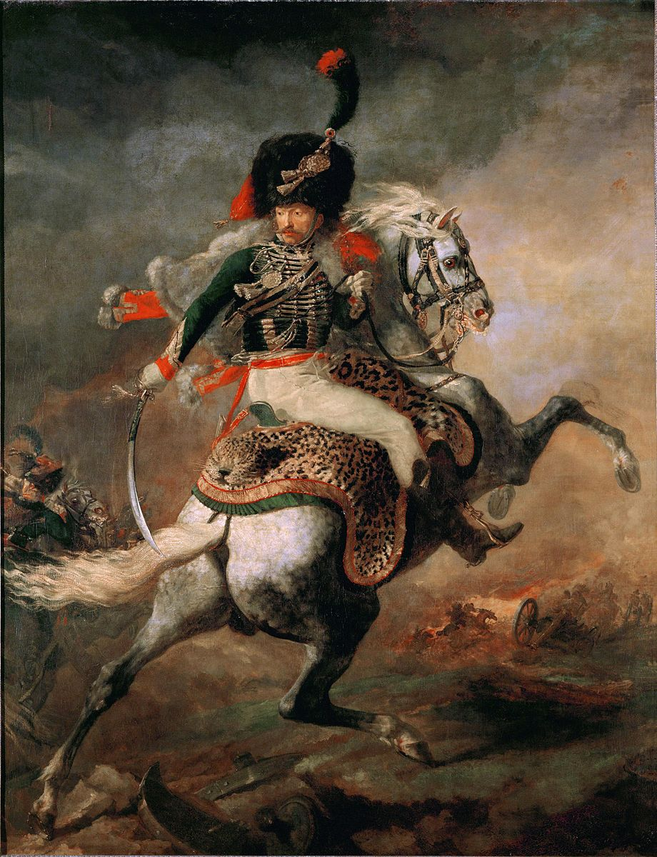 An Officer of the Imperial Horse Guards Charging, 1812, Jean Louis Théodore Géricault