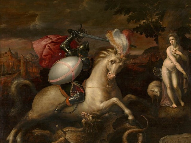 MANNERISMSaint George and The Dragon, 1581, Gillis Coignet, Flemish school