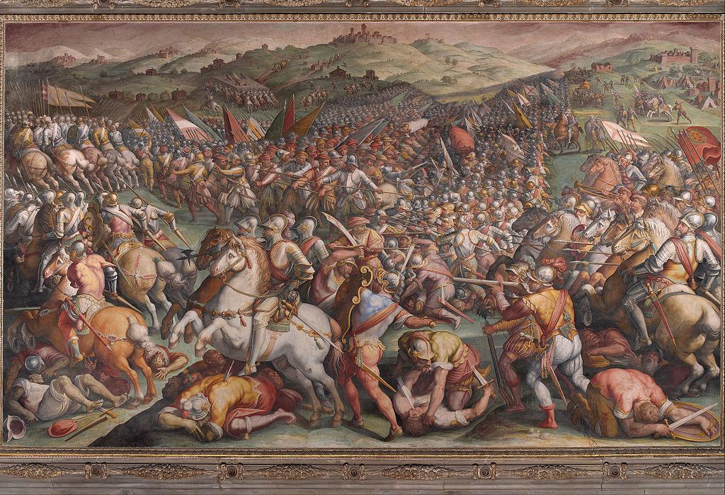 The battle of Marciano in Val di Chiana,  1570-1, Giorgio Vasari, Palazzo Vecchio, Florence
