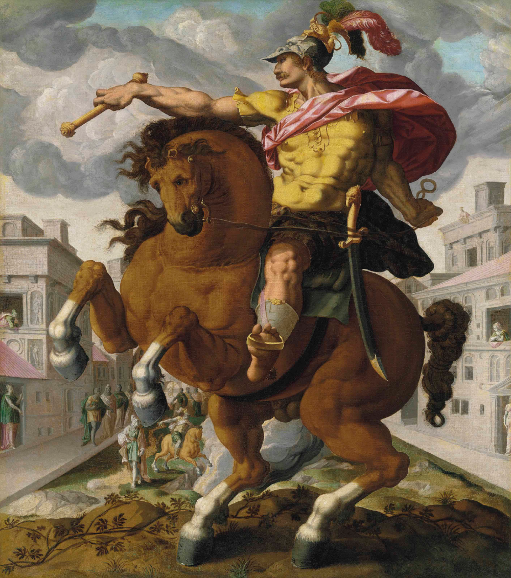 Marcus Curtius, The Roman Heroes series, 1586-1617, circle of Hendrick Goltzius