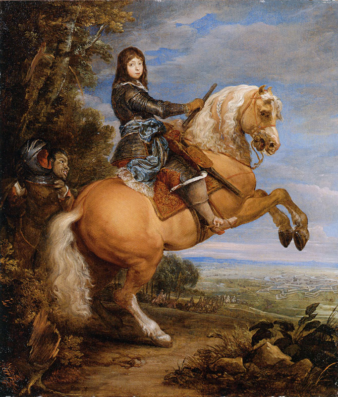 Equestrian portrait of Louis II de Bourbon, the Grand Condé, as a boy, 1643-7, Gonzales Coques