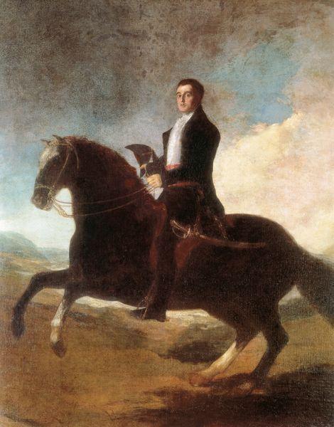 Equestrian Portrait of the 1st Duke of Wellington, 1810s, Francisco Goya