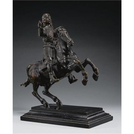 Equestrian statuette of Archduke Ferdinand Karl or Archduke Sigmund Franz von Habsburg on horseback, mid 17th century, Caspar Gras, Austria