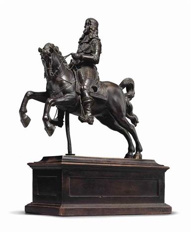 Equestrian statuette of Emperor Leopold I or Archduke Siegmund Franz on horseback, mid 17th century, Caspar Gras, Austria