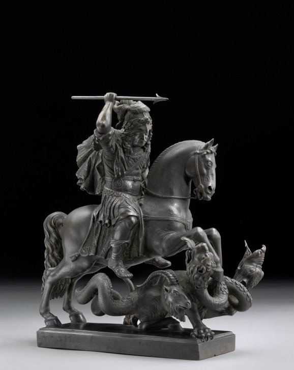 The Great Elector as Saint George and Bellerophon, 1680, Gottfried Leygebe, Prussia