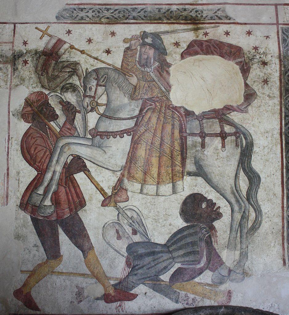 Santiago Matamoros, 15th century, Santa María de Labrada, Guitiriz, Lugo, Spain