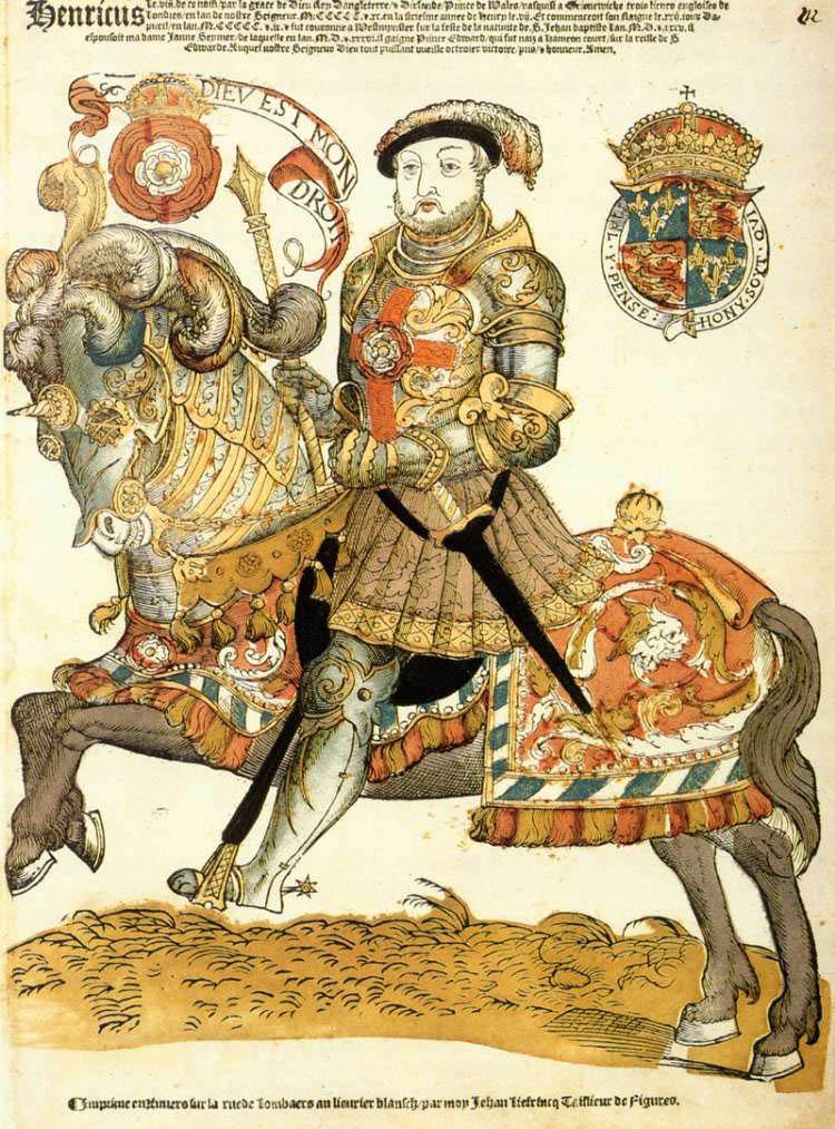 Henry VIII, king of England, on Horseback, 1536-40, Cornelis Anthonisz (manner of) and Hans Liefrinck (I), Antwerp, Netherlands