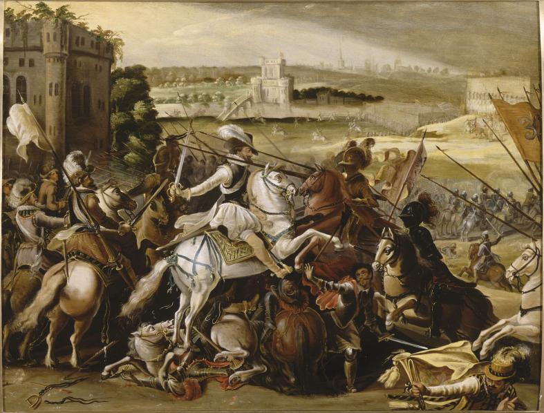 Henri IV at the battle of Arques, cr. 1590, ?, France