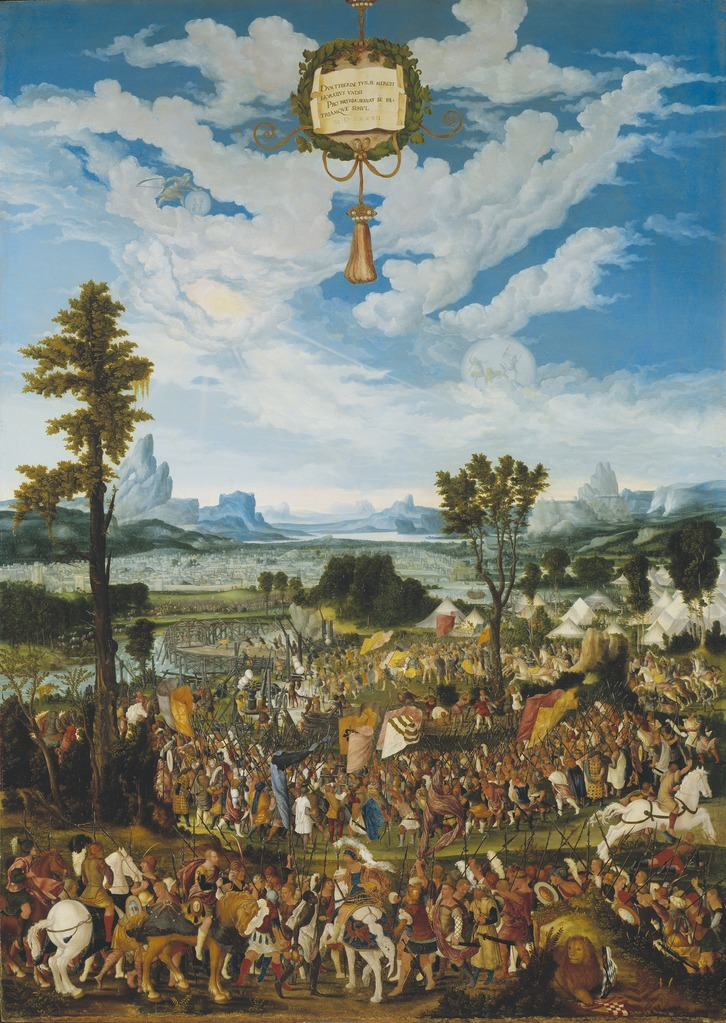Horatius Cocles Stopping King Porsenna's Army outside Rome, 1525-49, Ludwig Refinger, Bavaria, Germany
