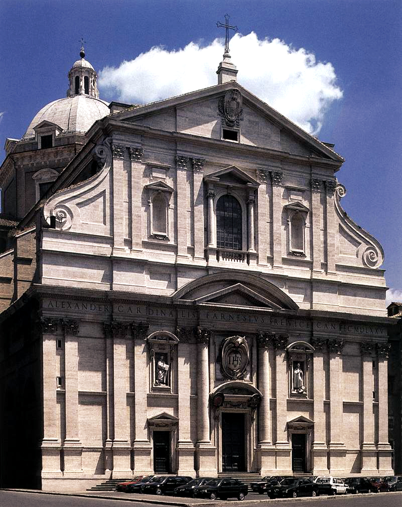 Il Gesù, motherchurch of the Society of Jesus, consecrated in 1584, Giacomo Barozzi da Vignola and Giacomo della Porta, Rome, Italy