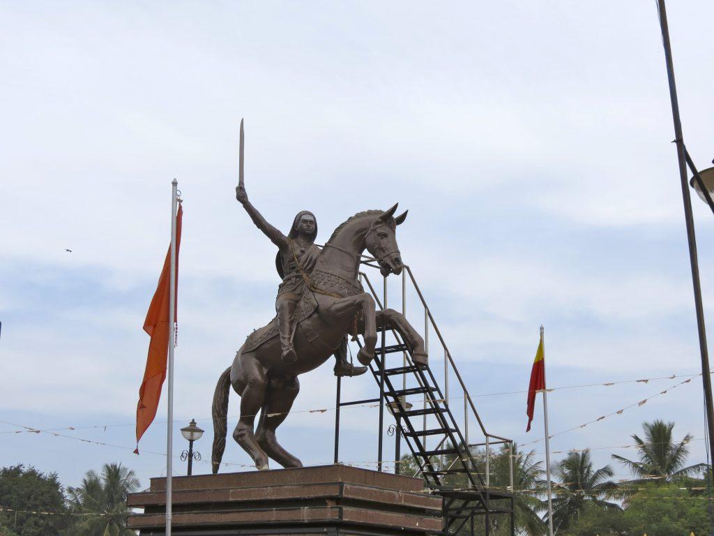 Statue of Kittur Chennamma, 2008, Jasu Shilpi, Kakati, Karnataka, India