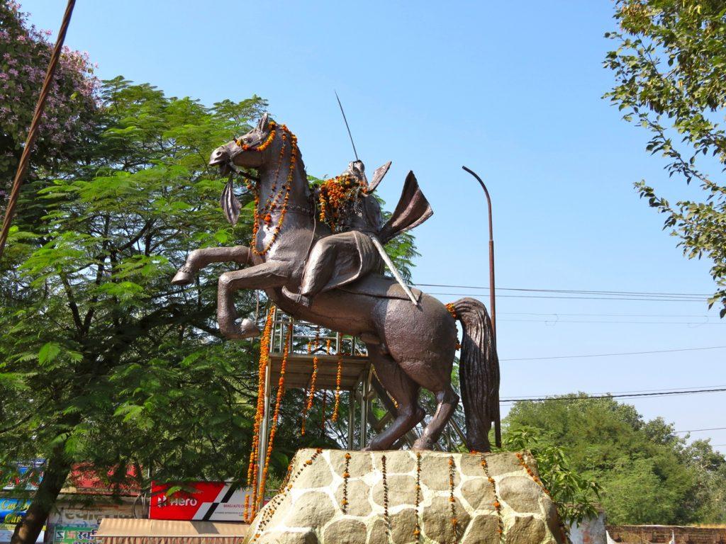 Statue of Rani Lakshmibai, 1995, Jhansi, Uttar Pradesh, India