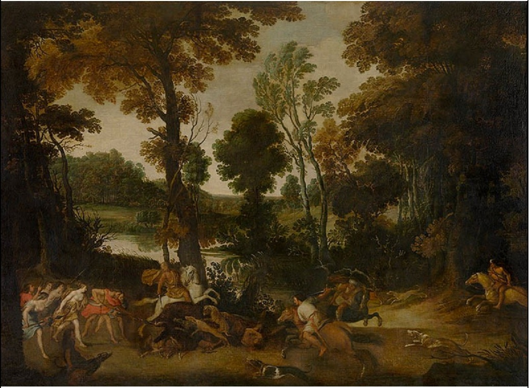 Landscape with Hunt of Meleager and Atalanta, first half of the 17th century, Jan Wildens, Flandres