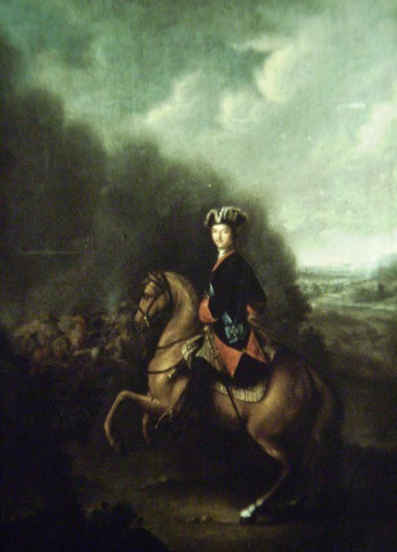 Peter the Great at the Battle of Poltava, Johann Gottfried Tannauer, 1711-37