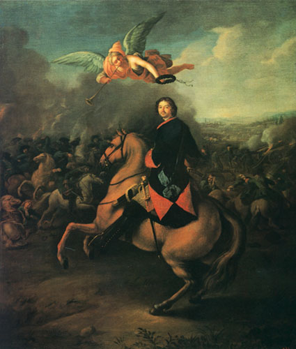 Peter I at the Battle of Poltava, Johann Gottfried Tannauer, 1724 or 1725