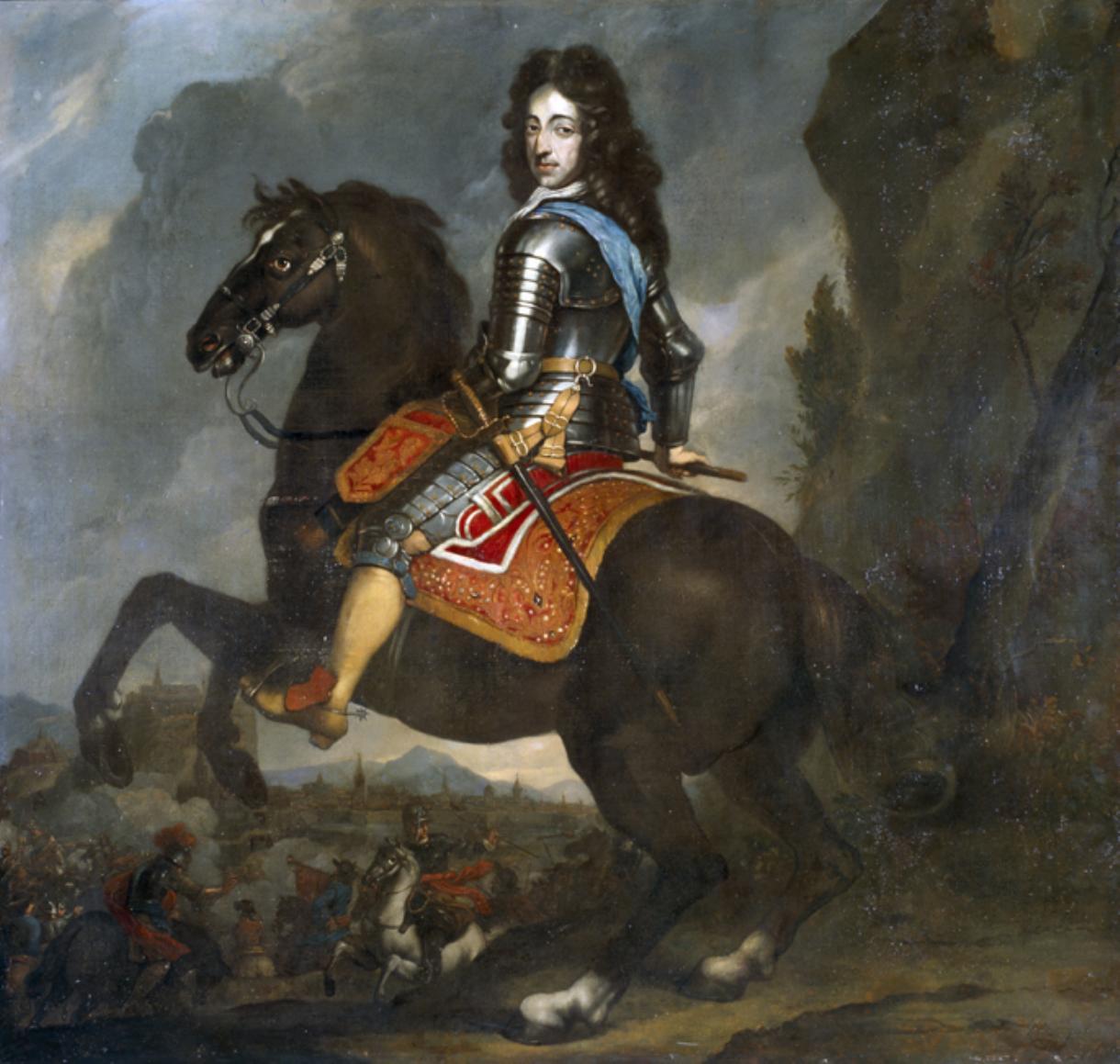 Equestrian portrait of William III, second half of the 17th century, Johannes Voorhout, Netherlands