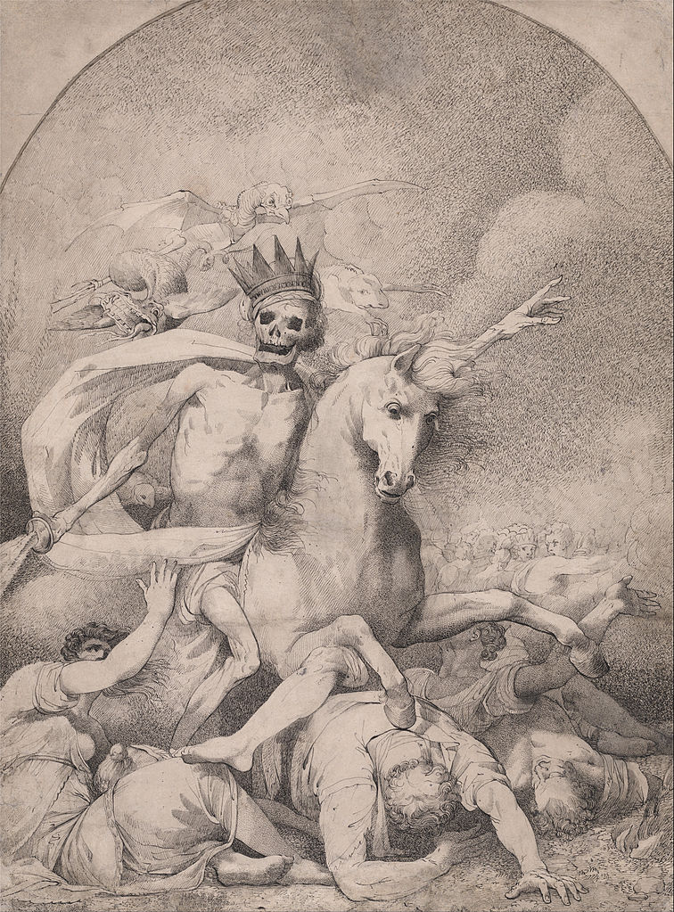 Death on a Pale Horse (Fourth Horseman of the Apocalypse), cr. 1775, John Hamilton Mortimer, England